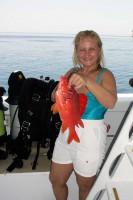 Лида и красная рыбка :)