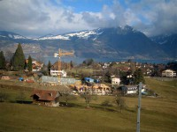 Швейцария- вид из окна поезда