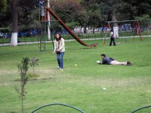 В том самом парке...