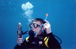 Контроль скорости всплытия при помощи подводного компьютера